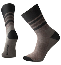 SmartWool Striped Hike Medium Crew, Taupe