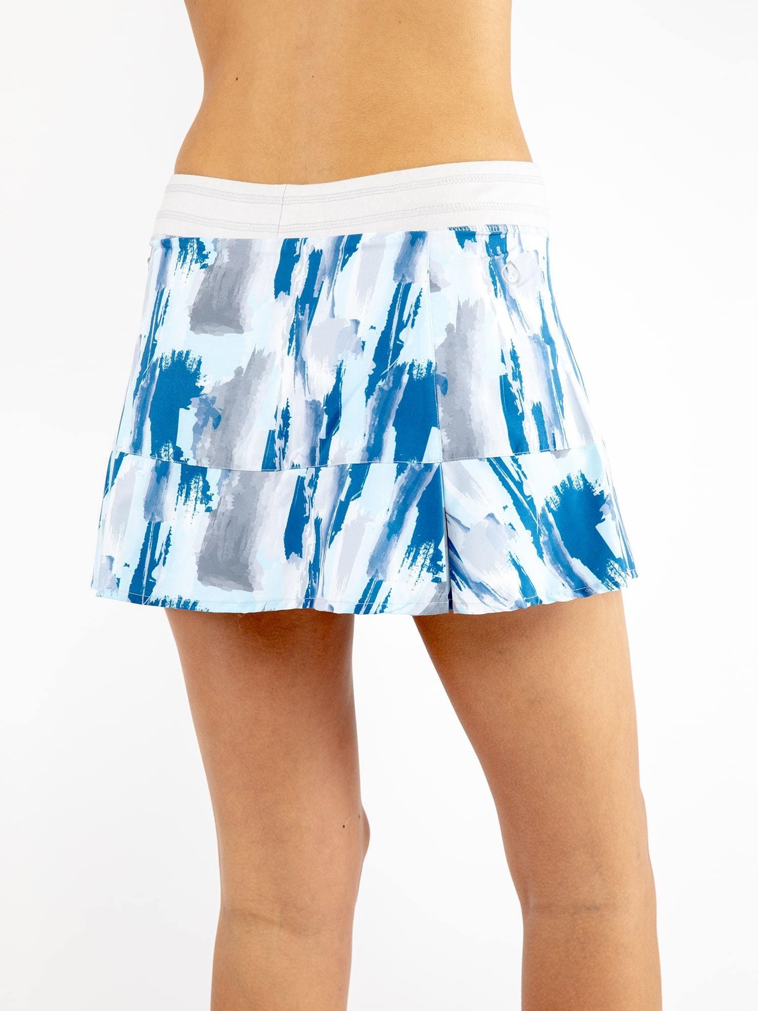 Tasc Performance Rhythm II Skirt, Violet Brushstrokes