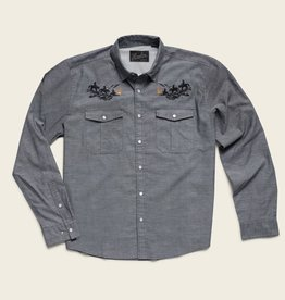 Howler Brothers Gaucho Snapshirt, Blue Oxford: Howler Posse