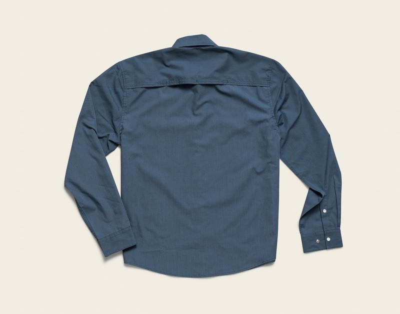 Howler Brothers Gaucho Snapshirt, Cobalt Microstripe: Dos Gallos