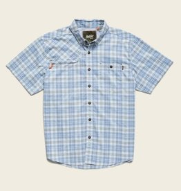 Howler Brothers Matargorda Shortsleeve, Shoreline Plaid: Tidal Blue