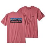 Patagonia M's P-6 Logo Pocket Responsibili-Tee, Sticker Pink