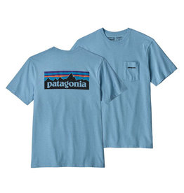 Patagonia M's P-6 Logo Pocket Responsibili-Tee, Break Up Blue
