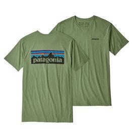 Patagonia M's P-6 Logo Organic T-Shirt, Matcha Green