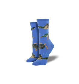 Socksmith W's Sea Turtles, Periwinkle