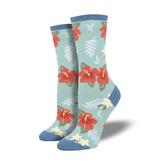 Socksmith W's Aloha Floral, Sky Blue