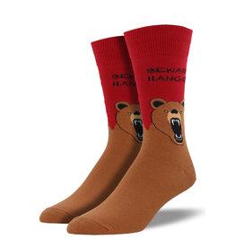 Socksmith Hangry Bear, Red