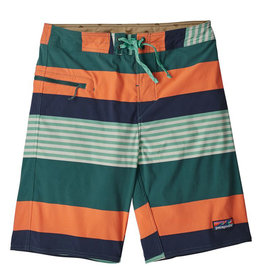 Patagonia M's Stretch Wavefarer Boardshorts 21 in, Fitz Stripe: Tasmanian Teal