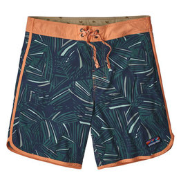 Patagonia M's Scallop Hem Stretch Wavefarer Boardshorts 18 in, Rain Fern Multi: Tasmanian Teal