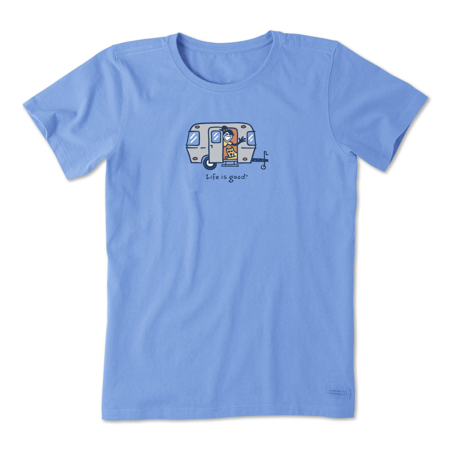 Life is Good Women's Vintage Crusher Jackie Camper, Powder Blue