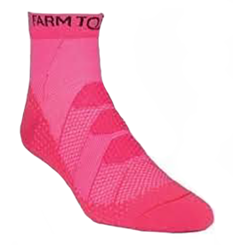 Farm to Feet Women's Raleigh 1/4, Pink