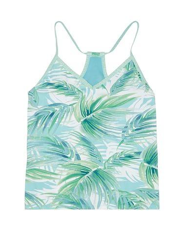 Carve Designs Catalina Tankini, White Palms