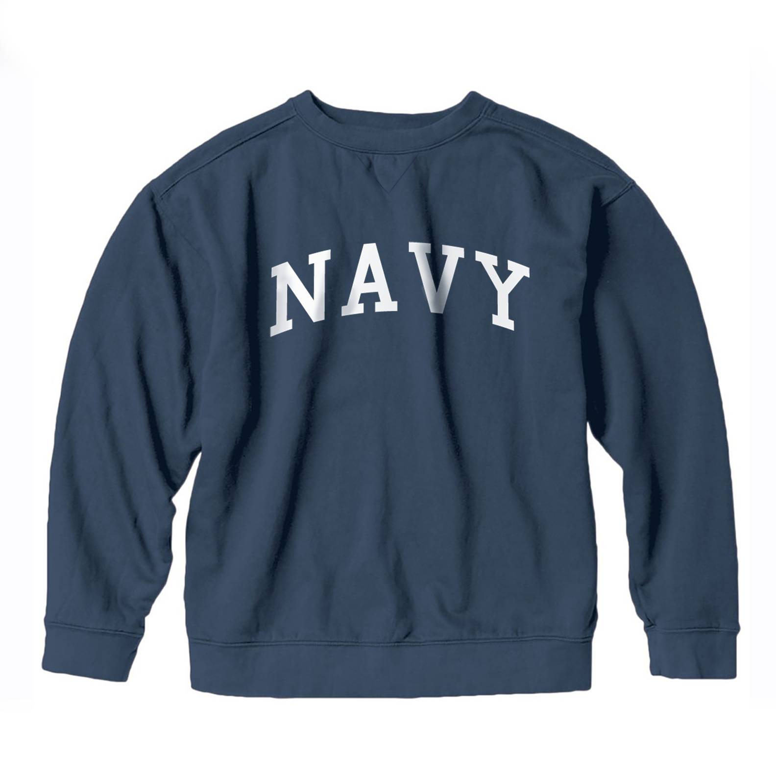 S.L. Revival Co. Navy Collegiate Sweatshirt, Blue