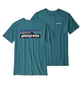 Patagonia M's P-6 Logo Organic T-Shirt, Tasmanian Teal