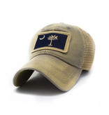 S.L. Revival Co. SC Flag Patch Trucker Hat, Drifter Grey