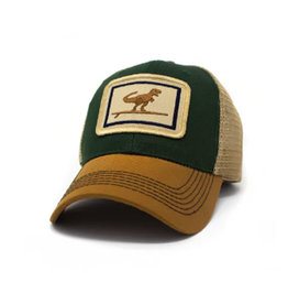 S.L. Revival Co. Surfing T-Rex Everyday Structured Trucker Hat, Woods