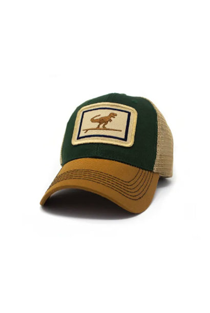 Surfing T-Rex Everyday Structured Trucker Hat, Woods