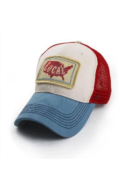 Local USA Everyday Trucker Hat, Structured, Cream