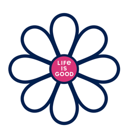 Life is Good Die Cut Sticker Simple Daisy