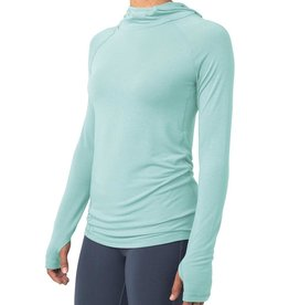 Free Fly Women's Bamboo Shade Hoody, Heather Mint