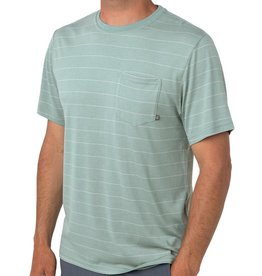 Free Fly Men's Bamboo Channel Pocket Tee, Keys Green/Aspen Grey