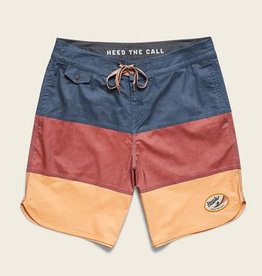 Howler Brothers Waveform Surf Trunk, Blue and Brick and Brew