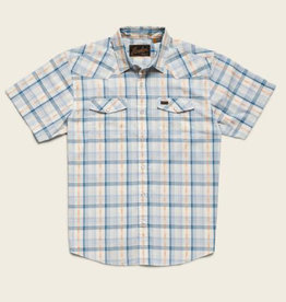 Howler Brothers H Bar B Snapshirt, Brooks Plaid: Creamy Blue