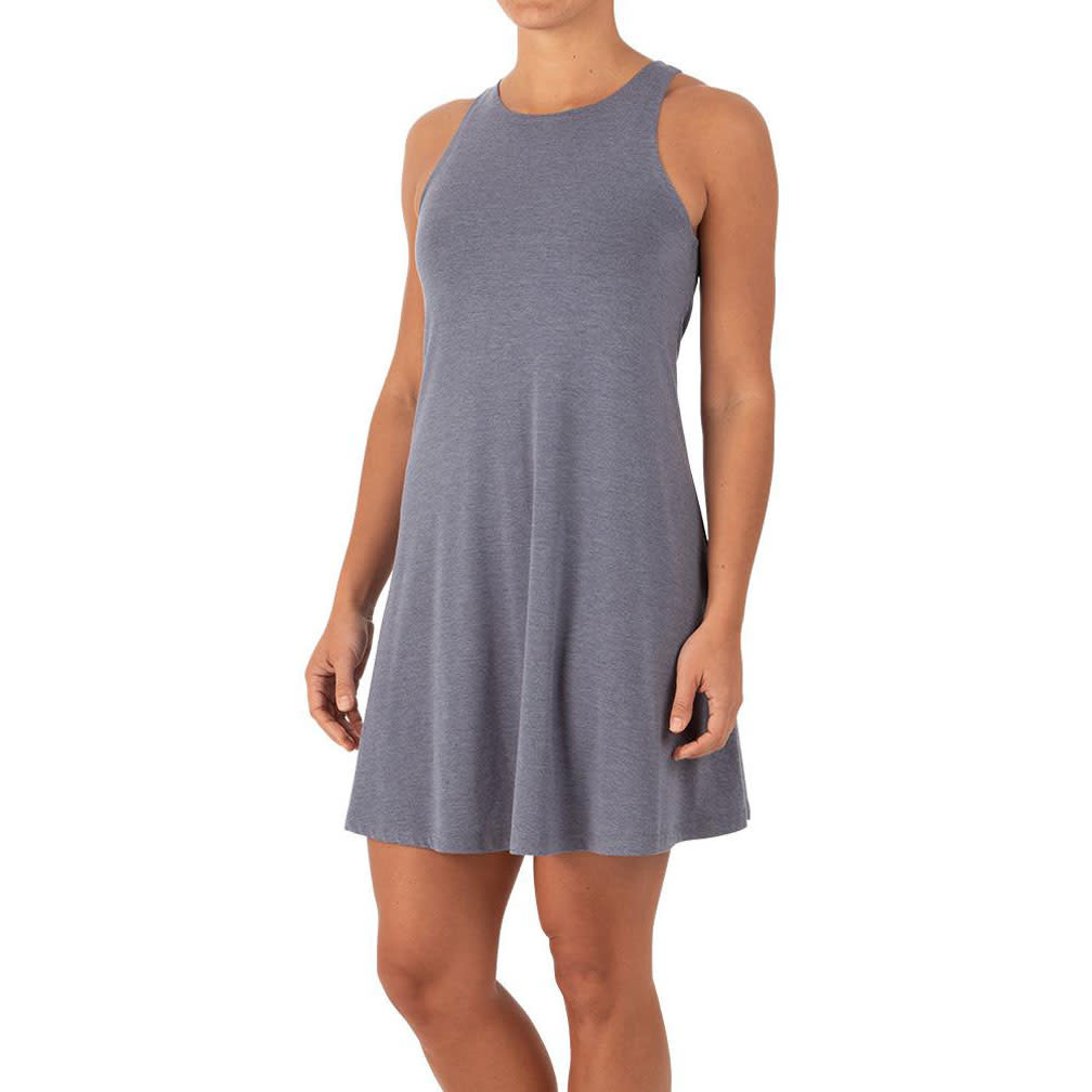 Free Fly W's Bamboo Flex Dress, Heather Denim