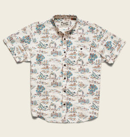 Howler Brothers Mansfield Shirt, Outpost Print: Vintage White