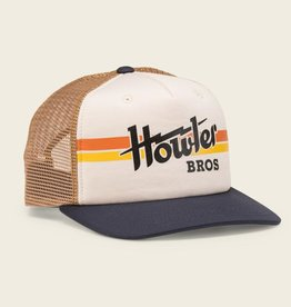 Howler Brothers Electric Stripe Snapback, Stone/Gold