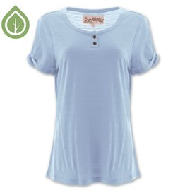 Women's Paloma Short Sleeve Top, Placid Blue