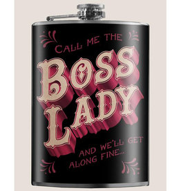 Trixie & Milo 8 oz Flask, Boss Lady