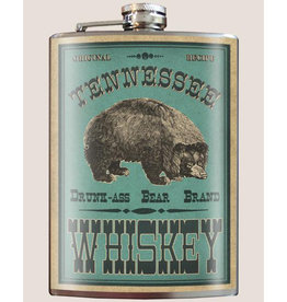 Trixie & Milo 8 oz. Flask, Tennessee Drunk Ass Bear