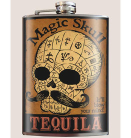 Trixie & Milo 8 oz. Flask, Magic Skull