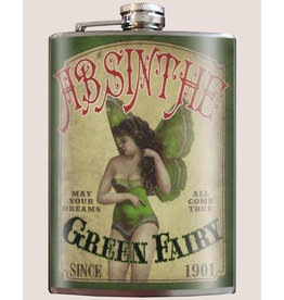 Trixie & Milo 8 oz. Flask, Green Fairy Absinthe