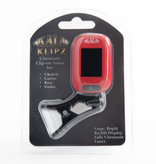 Kala Brand Kala Klipz Clip-On Tuner, Red
