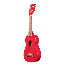 Kala Brand Soprano Dolphin Ukulele, Candy Apple Red