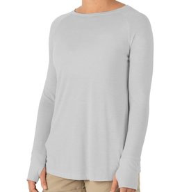 Free Fly Women's Bamboo Weekender Long Sleeve, Aspen Grey