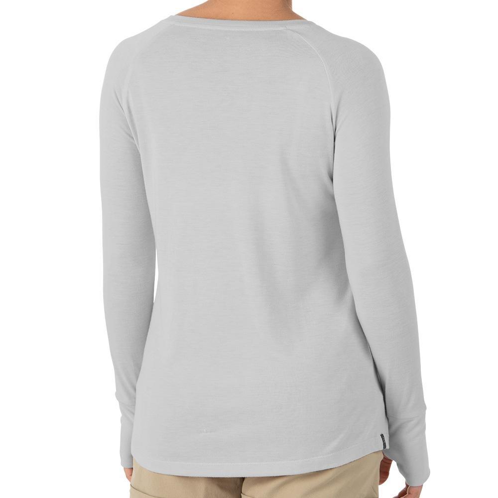Free Fly Women's Bamboo Weekender Long Sleeve, Aspen Grey