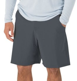"Free Fly M's Bamboo-Lined Hybrid Shorts 7.5"", Blue Dusk"