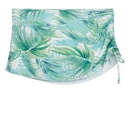 Carve Designs W's Hoku Swim Skirt, White Palms