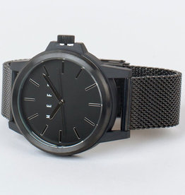 Carabiner Mesh Watch, Gunmetal/Black