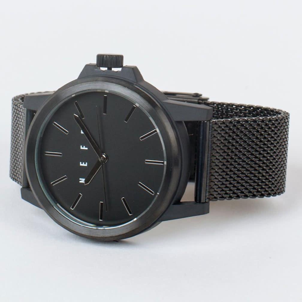 Carabiner Mesh Watch, Gunmetal/Black