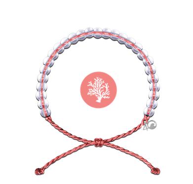 Glass Bead Bracelet, Coral Reef-1