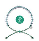 4Ocean Glass Bead Bracelet Mangroves and Estuaries Emerald/Tan
