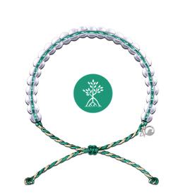 4Ocean Glass Bead Bracelet Mangroves & Estuaries, Emerald/Tan