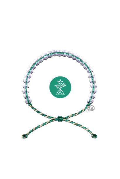 Glass Bead Bracelet Mangroves & Estuaries, Emerald/Tan