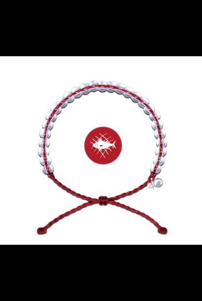 Glass Bead Bracelet Overfishing Red