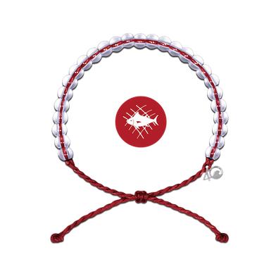 4Ocean Glass Bead Bracelet Overfishing Red