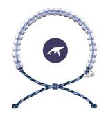 4Ocean Glass Bead Bracelet Whale Lt. Blue/Purple